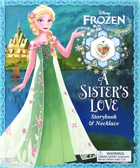 toko mainan online Disney Frozen A Sisters Love Storybook & Necklace