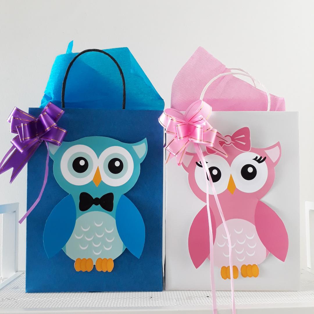 toko mainan online Add on - PAPERBAG GOODY BAG OWL