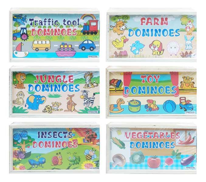 toko mainan online WOODEN DOMINOES - XY6223B