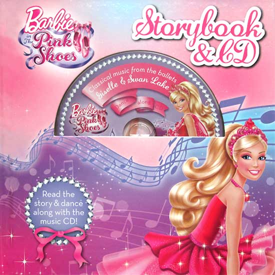 toko mainan online Barbie in the Pink Shoes Storybook & CD (Dance Along CD with Classical music from the ballets Giselle & Swan Lake)