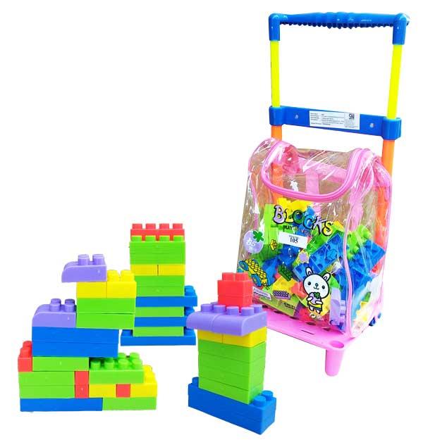 toko mainan online BLOCK TROLLEY 65PCS - 105
