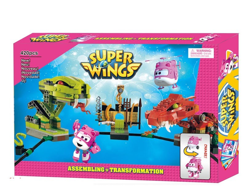 toko mainan online BLOCKS SUPER WINGS 420PC - 161152 (PINK)