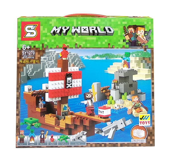 toko mainan online MINECRAFT MY WORLD 417PCS - SY1270