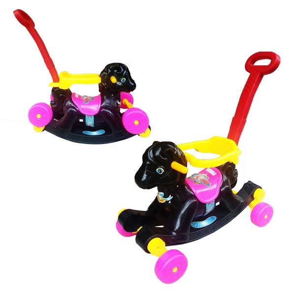 toko mainan online RIDE ON HORSE HITAM - 281M-H