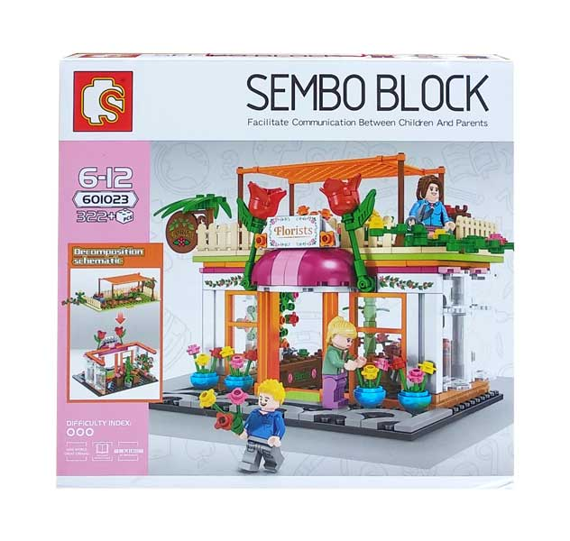 toko mainan online SEMBO BLOCK FLORISTS 322PCS - 601023