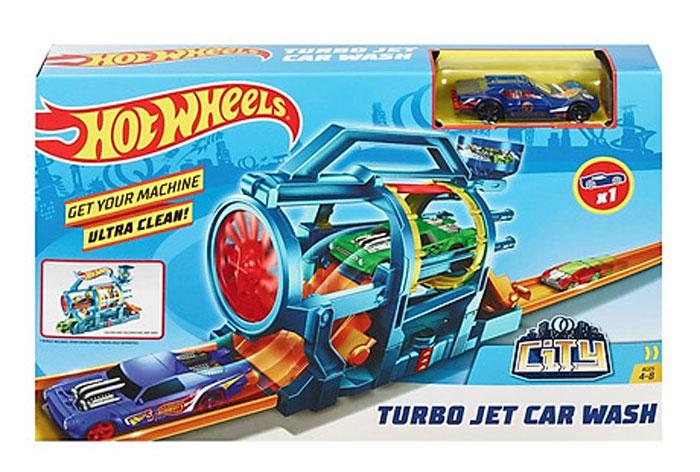 toko mainan online HOT WHEELS TURBO JET CAR WASH - FJN35