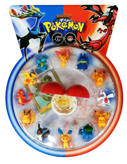 toko mainan online FIGURINE POKEMON GO BULAT ISI 13 + BOLA