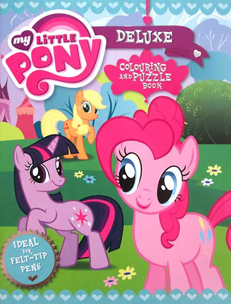 toko mainan online MY LITTLE PONY DELUXE COLORING AND PUZZLE BOOK