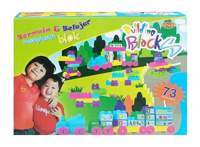 toko mainan online BUILDING BLOCKS 73PCS - 1631