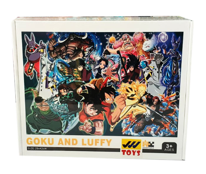 toko mainan online GOKU AND LUFFY JIGSAW PUZZLE - 105