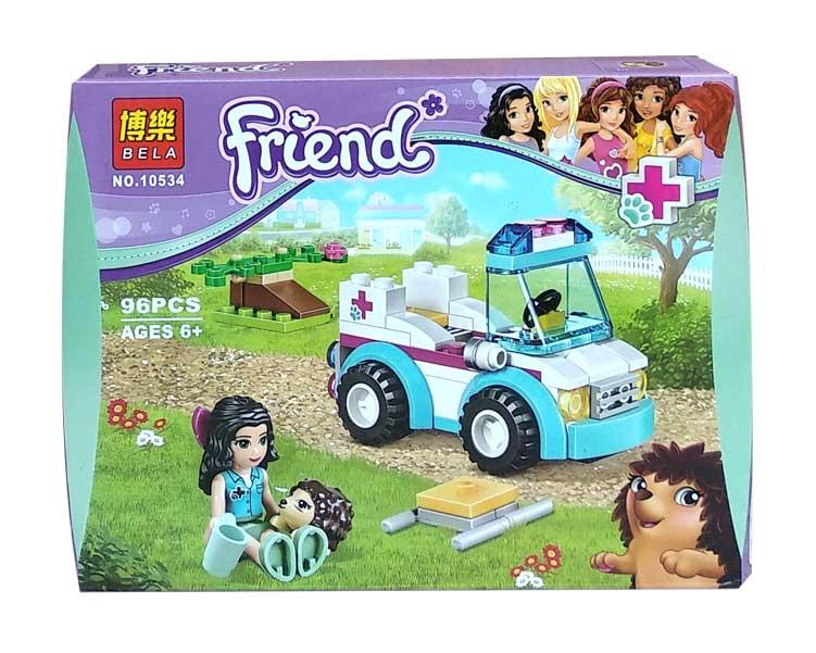 toko mainan online BELA FRIEND AMBULANCE 96PCS - 10534