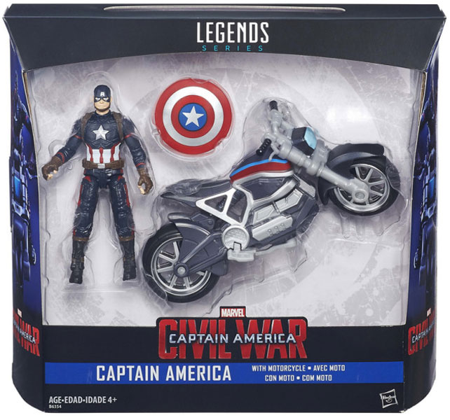 toko mainan online HASBRO CAPTAIN AMERICA WITH MOTORCYCLE