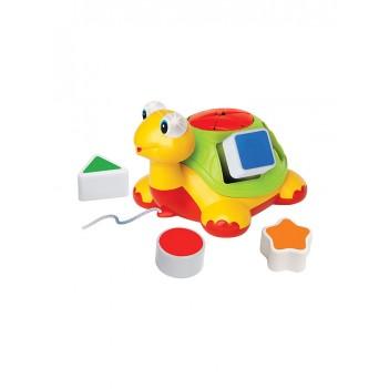 toko mainan online KIDDIELAND SHAPE SORTER TURTLE