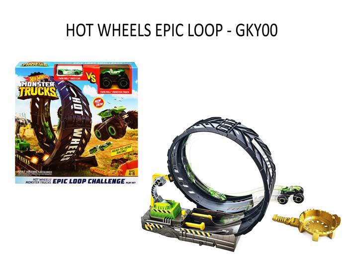toko mainan online HOT WHEELS MONSTER TRUCK EPIC LOOP - GKY00