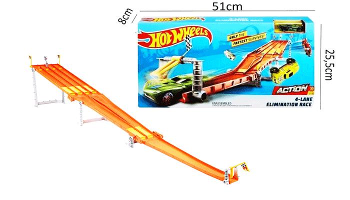 toko mainan online HOT WHEELS 4 LANE ELIMINATION RACE - GDY60