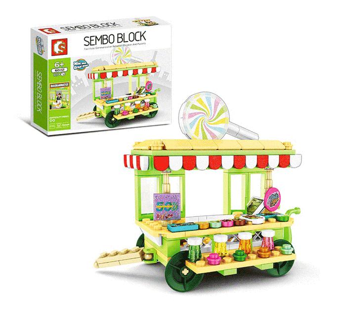 toko mainan online SEMBO STREET STALL 181PCS - 601112