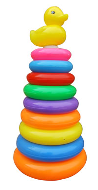 toko mainan online Ring Donat Bebek 9pc 1609-9